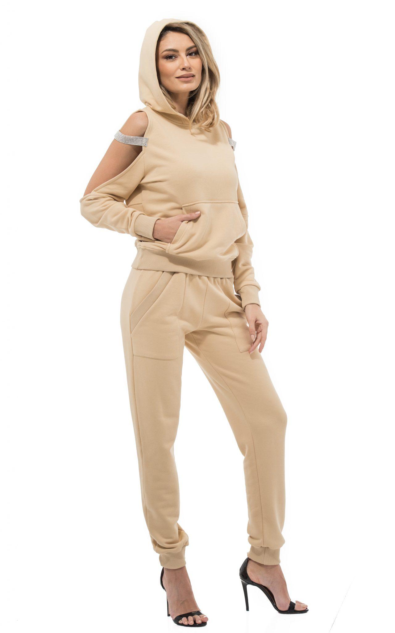 Pantalon MELBA BEIGE (3) POZA PRIMARA